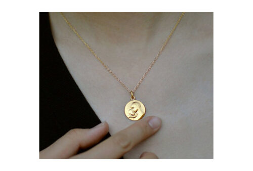 lg b necklace medals virgin and child of botticelli
